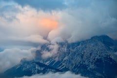 Gebirgslandschaft - Dolomit, Italien stockbilder