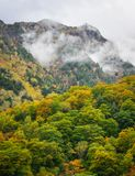 Gebirgslandschaft am Herbst in Japan Lizenzfreies Stockbild