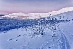 Gebirgslandschaft am Sonnenuntergang Lizenzfreie Stockfotografie