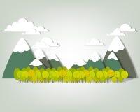 Gebirgslandschaft. Vektorapplique Lizenzfreie Stockbilder