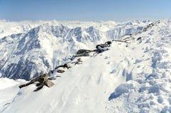 Gebirgslandschaft von österreichischen Alpen lizenzfreie stockfotografie