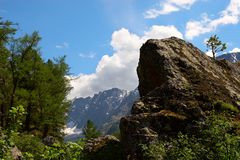Gebirgslandschaft von Altay. Stockfotografie