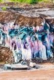Gebirgslava Überlagertes Gelände mit geologischem Felsenmaterial lizenzfreie stockbilder
