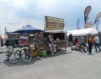 Gebirgsmann-Bart-Produkte bei Black Hills Harley Davidson, schnelle Stadt, South Dakota Lizenzfreies Stockbild