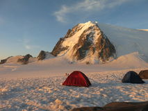 Gebirgsmassiv Mont Blanc Stockbild