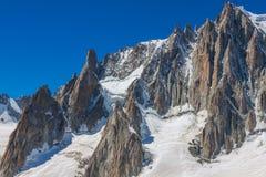 Gebirgsmassivde der Montblanc auf der Grenze von Frankreich und von Italien Im f Stockbilder