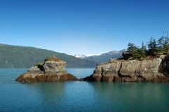 Gebirgsmorgen in Alaska Stockbild