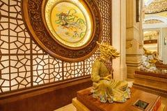 Gebirgsnaturschutzgebiet Lingshan Vatikan Lingshan Buddha Palast-Tierkreis Stockbild