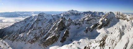 Gebirgspanorama vom hohen Tatras Stockbild