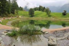 Gebirgspark in Jerzens, Österreich Lizenzfreie Stockfotos