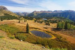 Gebirgspass, Colorado Stockfotos