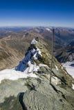 Gebirgsrücken in den österreichischen Alpen Stockbild