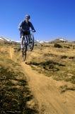 Gebirgsradfahren Lizenzfreies Stockfoto