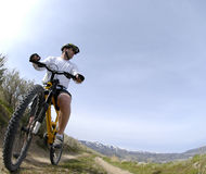 Gebirgsradfahren Lizenzfreies Stockbild