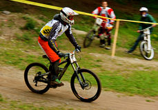 Gebirgsradfahrer Stockbild