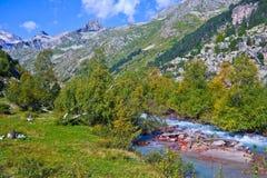 Gebirgsschluchten des Kaukasus lizenzfreie stockfotografie