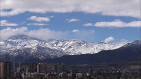 Gebirgsschnee und Landschaft n Chile stock video footage