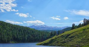 Gebirgsseeblick - Bighorn-Berge, Wyoming lizenzfreies stockfoto
