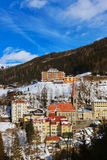 GebirgsSkiort falsches Gastein Österreich Stockfoto