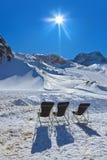 Gebirgsskiort - Innsbruck Österreich Stockfotos