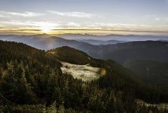 Gebirgssonnenaufgang in hohen tatras Slowakei Lizenzfreie Stockfotos
