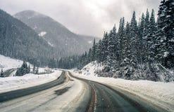 Gebirgsstraße Colorados Snowy Lizenzfreies Stockbild