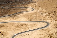 Gebirgsstraße von Al Mukalla nach Aden yemen Lizenzfreie Stockfotos