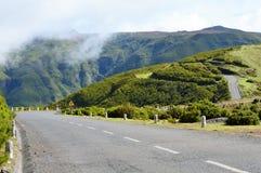 Gebirgsstraße auf Madeira Stockbild