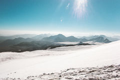 Gebirgsstrecke Landschaftsgletscher Lizenzfreie Stockfotos