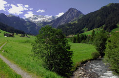Gebirgsszene, Adelboden, die Schweiz Lizenzfreie Stockbilder