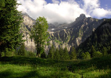 Gebirgsszene, Adelboden, die Schweiz Lizenzfreie Stockfotografie