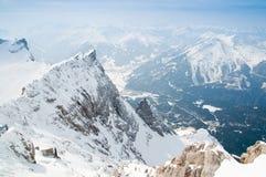 Gebirgsszene von Zugspitze Stockbild