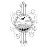 Gebirgstätowierungs-Symbol Stockbilder