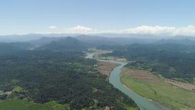 Gebirgstal mit Ackerland in den Philippinen Stockbilder