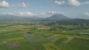 Gebirgstal mit Ackerland in den Philippinen Stockfotos