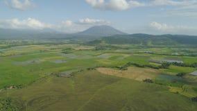 Gebirgstal mit Ackerland in den Philippinen Lizenzfreie Stockbilder