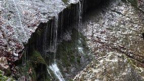Gebirgswasserfall im Bayern stock video footage