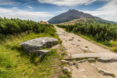 Gebirgsweg im Nationalpark Krkonose Lizenzfreies Stockfoto