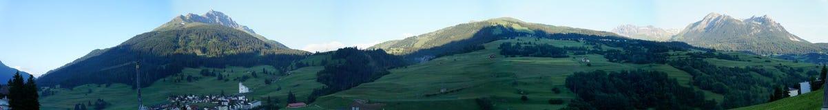 Gebirgswelt von Savognin, die Schweiz Stockfotografie