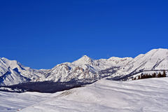 Gebirgszug Gros Ventre über Hoback River Valley in zentralen Rocky Mountains nahe Pinedale in Wyoming Stockbilder