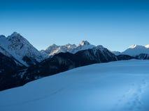 Gebirgszug im Winter Lizenzfreies Stockbild