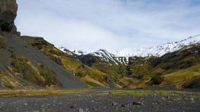 Gebirgszug in Island 4K stock footage