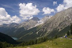 Gebirgszug-Italieneralpen Stockfotografie