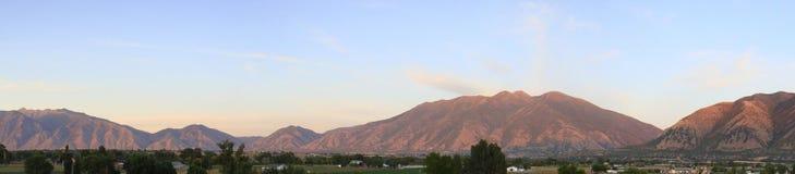 Gebirgszug in Utah Stockbilder