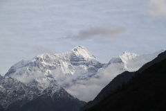 Gebirgszug von Nepal stockfotografie