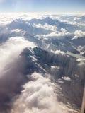 Gebirgszug von oben lizenzfreies stockfoto