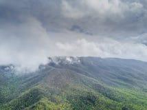 Gebirgszug während eines Sturms Stockfotografie