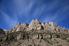 Gebirgszug - Wyoming Stockfotografie