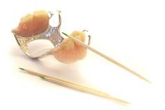 Gebisse und Toothpicks Lizenzfreies Stockbild