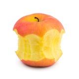 Gebissen vom Apfel Stockfotos